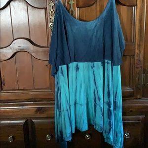 KMC USA Tie dye pattern bo-ho chic Tunic